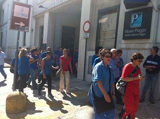 Lo sciopero in occasione della visita di Colaninno (archivio)