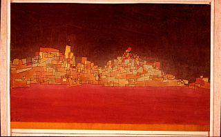 """L'opera """"Città su due colline"""" di Paul Klee"""