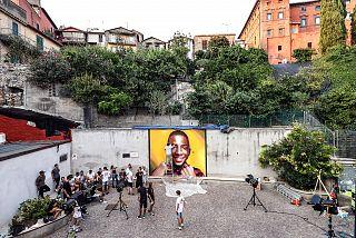 Il dipinto di Willy, realizzato da Ozmo in Largo Aldo Moro a Paliano