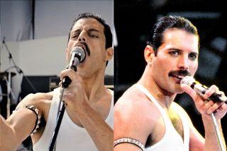 Rami Malek e Freddie Mercury