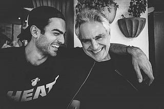 Matteo e Andrea Bocelli (foto da Instagram)