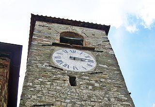 L'orologio della chiesa di Sant'Agata