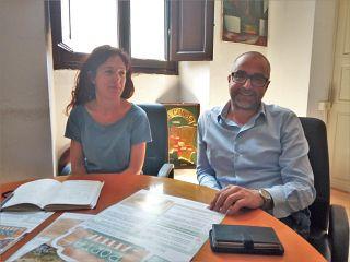Panesi, presidente di Arci Valdera e il sindaco Franconi