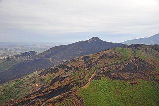 I monti pisani devastati dalle fiamme (foto di Piero Frassi)