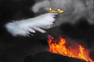 Foto del Serra in fiamme premiata oltreoceano