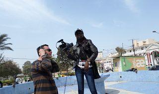 Il regista Cavallini con l'attrice Aminata Ndaye